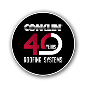 conklin roofing logo 40 years, conklin roof coatings