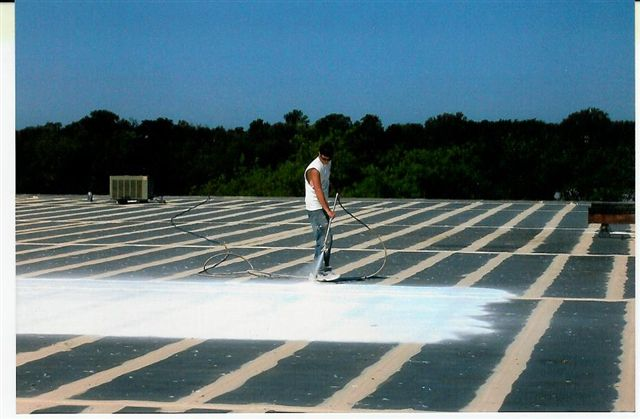 Tpo Roof Coating System L White Roofing Systems Conklin