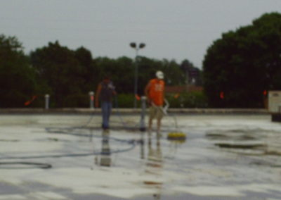 TPO being power washed in IL