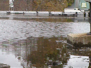 lake on commercial flat roof