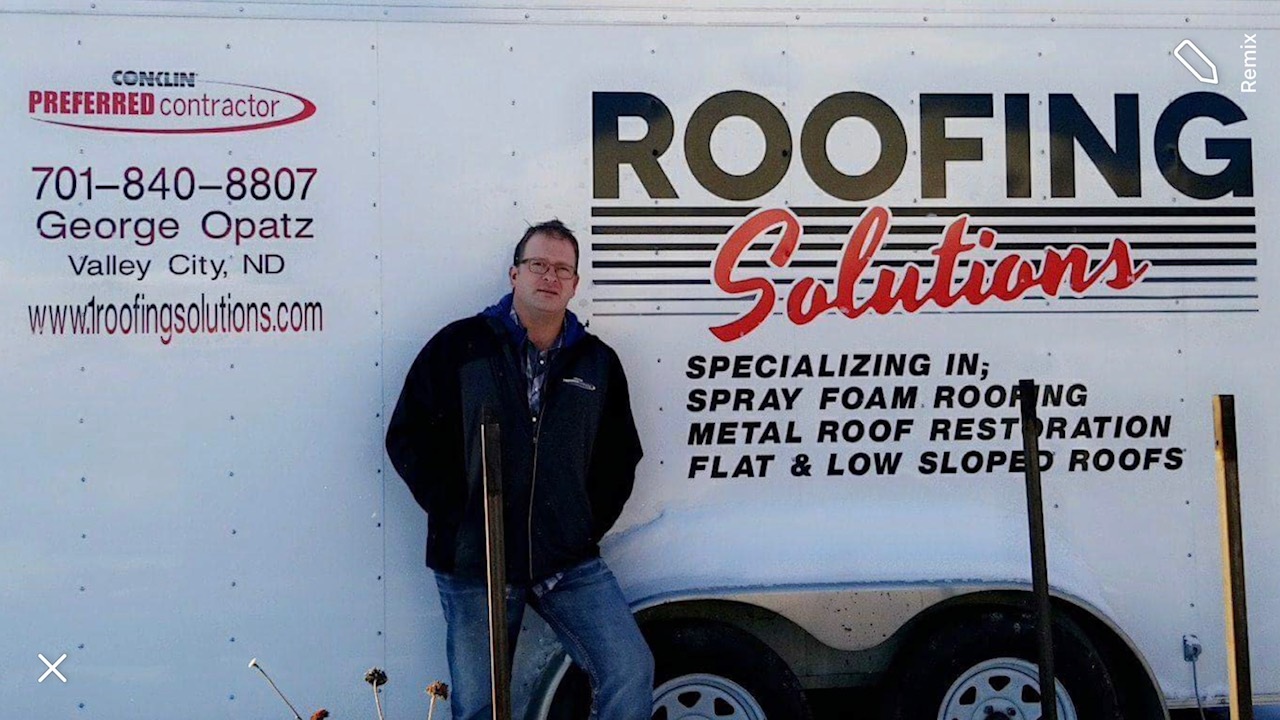 Geogre Opatz Of Roofing Solutions Nd Doing Conklin Roof