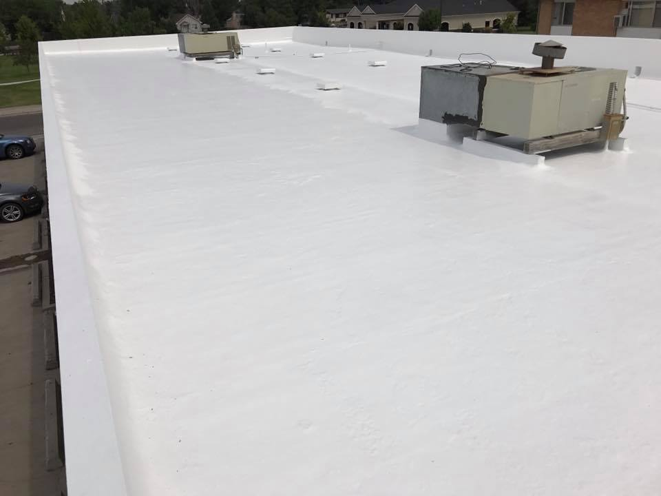 Lincoln Professional Center Top Coat White Roofing Systems